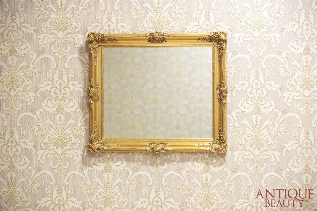 Antique Beauty - Mirror in a Gilded Frame, Circa 1900