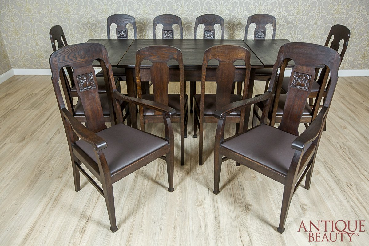 Oaken Art Nouveau Dining Room Set