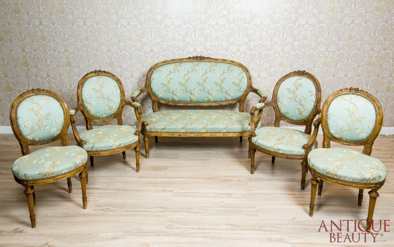 Antique Beauty Antyczny Komplet Salonowy W Typie Ludwika Xvi