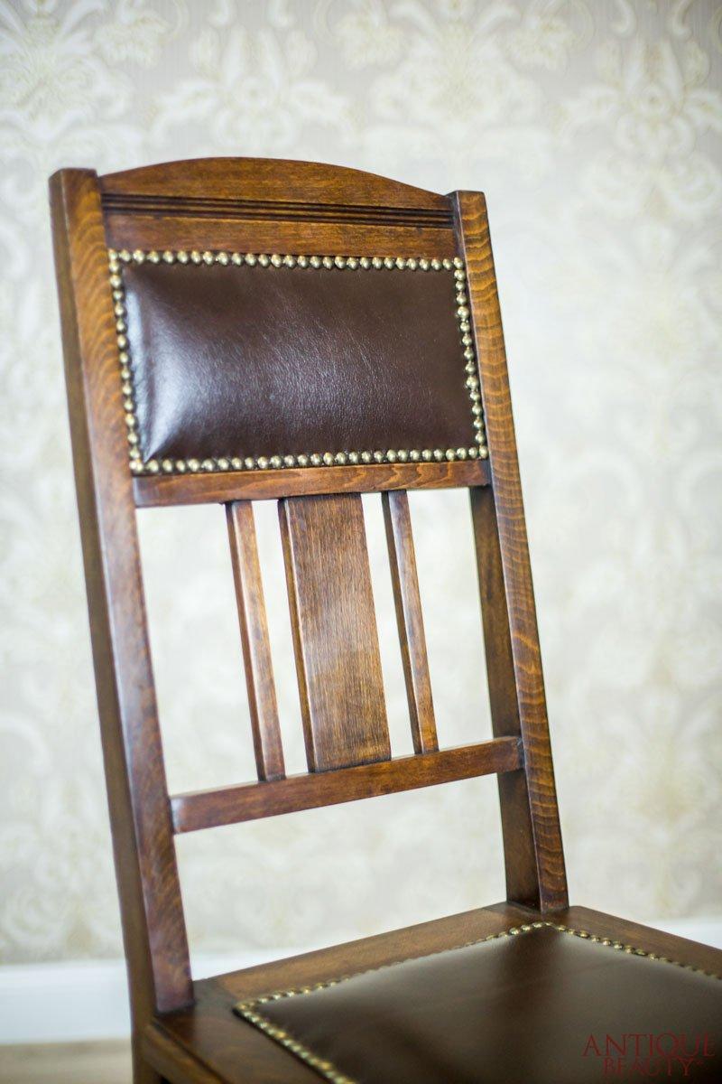 Antique Beauty Pair Of Signed Art Nouveau Chairs