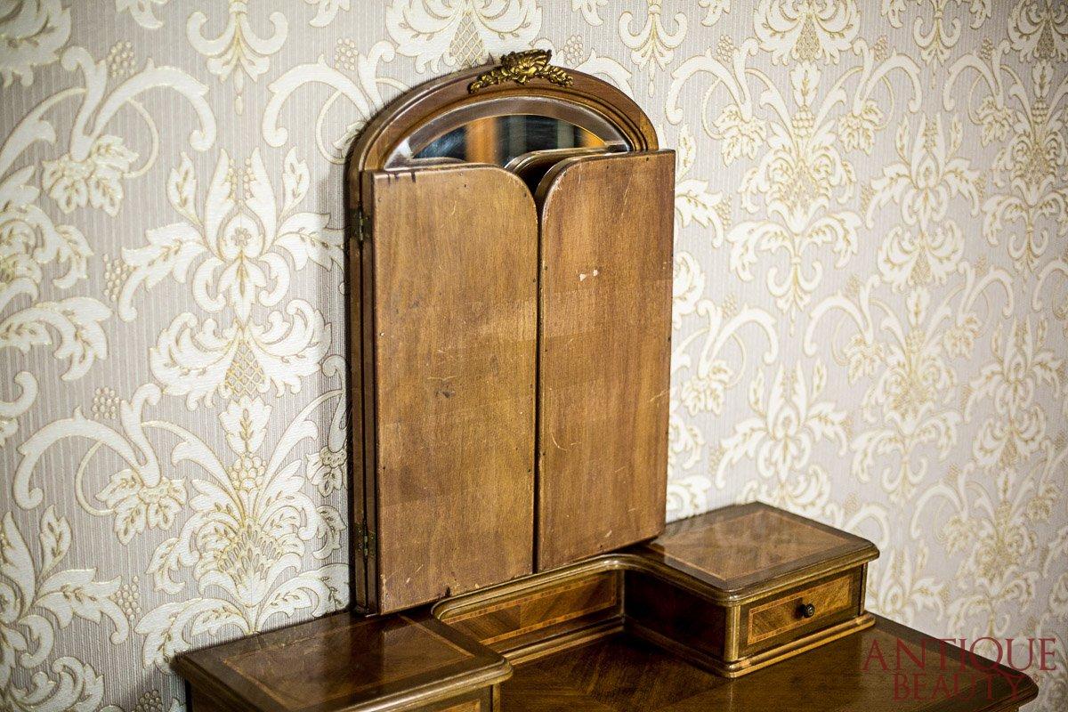 Antique Beauty Antyczna Przedwojenna Toaletka W Jasnej Okleinie