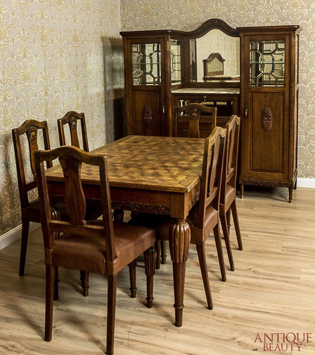 Art Nouveau Dining Room Suite Circa 1910