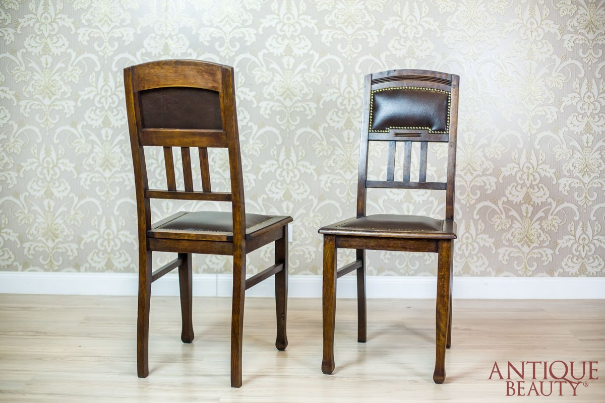 Antique Beauty Pair Of Art Nouveau Chairs From The Early 20th Century