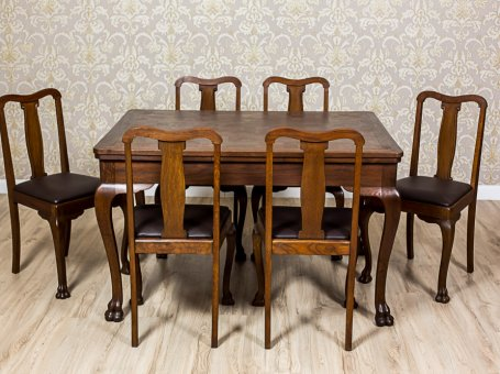 A Table with Chairs from the Interwar Period