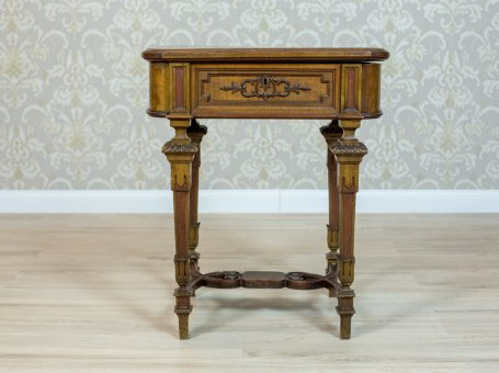 Mahogany Eclectic Sewing Table