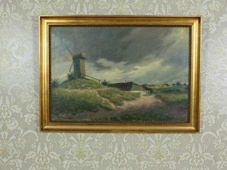 Oil on Canvas – Landscape with a Windmill