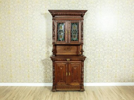 Cupboard with Stained Glass, Circa 1910