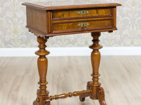 Eclectic Sewing Table, Circa 1890