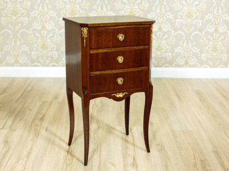 Mahogany Dresser with Brass Ornaments, the 2nd Half of the 20th century