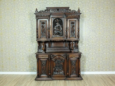Representative, Richly Carved Cupboard