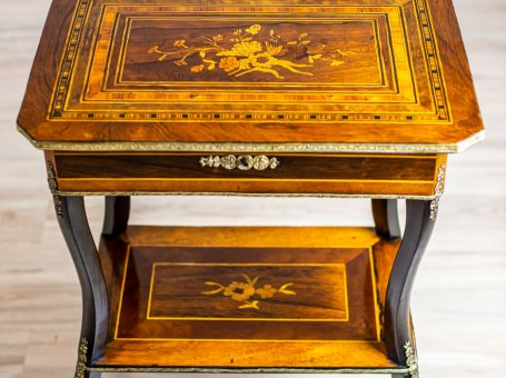 19th-Century Vanity-Sewing Table-Whatnot