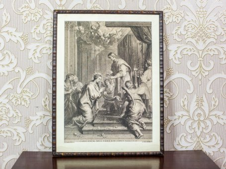 18th-Century Engraving Depicting a Religious Scene