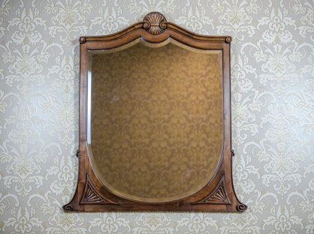 Crystal Mirror in a Wooden Frame