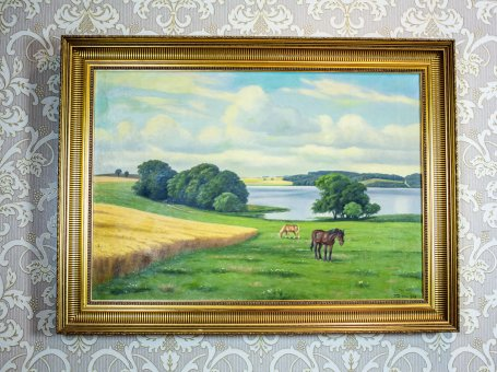 Landscape in a Gold Frame