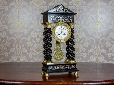19th-Century Encrusted Mantel Clock