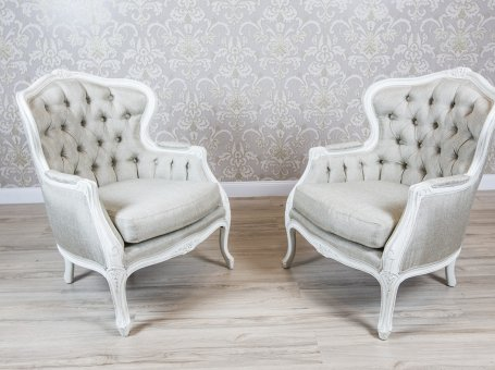 Two Bergères in the Shabby Chic Technique