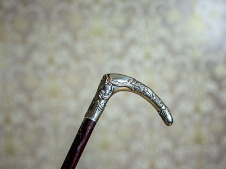 Antique Cane with a Silver Handle