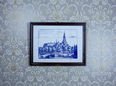 Picture Made of Faience Tiles