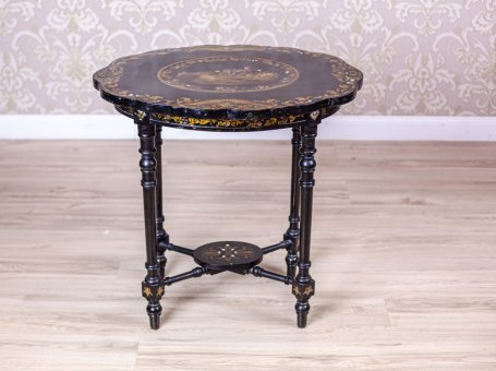19th-Century Mother-of-Pearl End Table