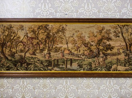Tapestry in an Oak Frame