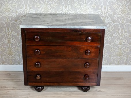 Oak Dresser with a Marble Top