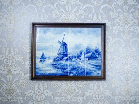 Dutch Landscape Made of Ceramic Tiles – Faience from Delft