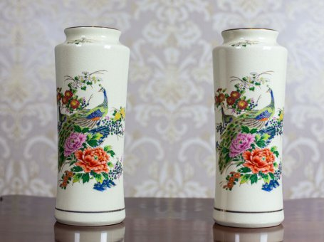 Pair of Vases in the Satsuma Type