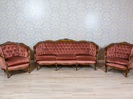 Living Room Set Stylized as Louis XV Furniture