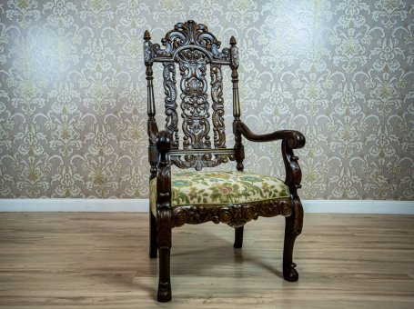 Carved Armchair-Throne from the Interwar Period