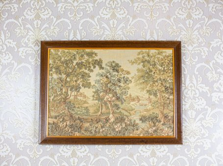 Tapestry in a Wooden Frame
