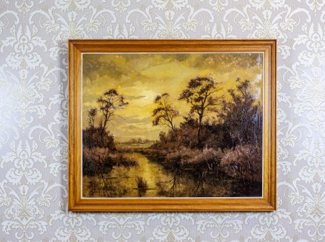 Oil Painting Depicting a Landscape
