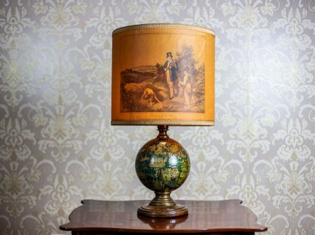 19th-Century Lamp with the Motif of the Planet