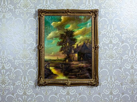 Landscape in a Golden Frame