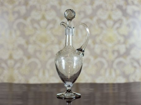 Crystal Decanter with a Handle