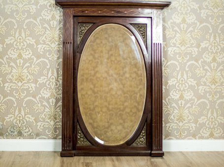 Mirror/Pier Glass in a Mahogany Frame