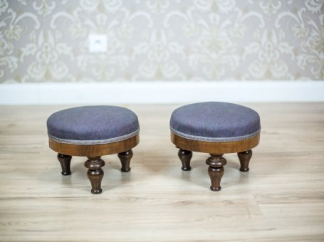 Two Antique Footstools, Circa 1860