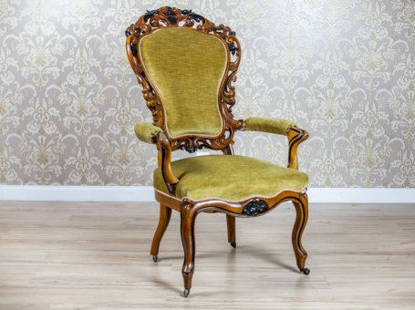 19th-Century Carved Armchair