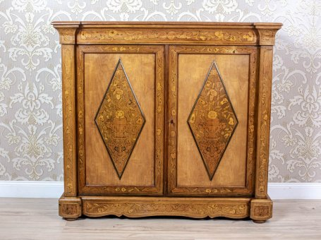Richly Inlaid Antique Cabinet