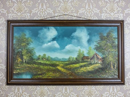 Landscape in an Oak Frame