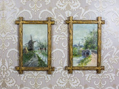 Pair of Oil Paintings, Circa Before 1939